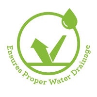 Ensures Proper Water Drainage